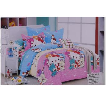 Hello Kitty Pink and Blue Bedsheet Price Philippines