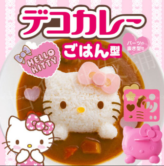 Hello Kitty rice balls mold curry rice Rice Bowl rice