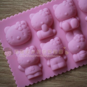 Hello Kitty silicone cake mold Ice Tray