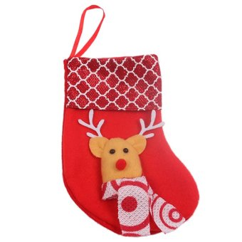 HengSong Christmas Sock Party Decoration Red