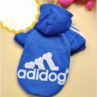 HengSong Dog Pet Cat Sweater Hoody Coat Jacket Puppy clothes S(DarkBlue) - intl