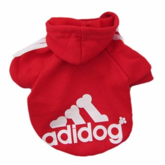 HengSong Dog Pet Cat Sweater Hoody Coat Jacket Puppy clothes S(Red)- intl