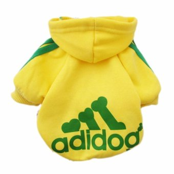 HengSong Dog Pet Cat Sweater Hoody Coat Jacket Puppy clothes S(Yellow) - intl