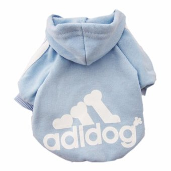 HengSong Dog Pet Cat Sweater Hoody Coat Jacket Puppy clothesS(Blue) - intl