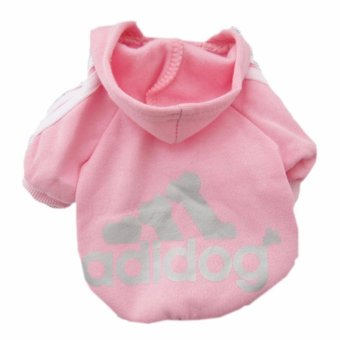 HengSong Dog Pet Cat Sweater Hoody Coat Jacket Puppy clothesS(Pink) - intl