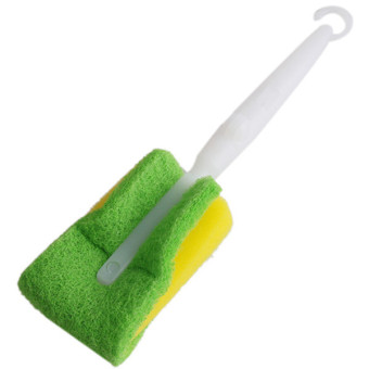Hengsong Foldable Cleaning Sponge Brush (Green/Yellow)