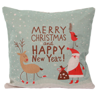 HengSong Lovely Christmas Pillow Cases Cushion Cover Car Pillow Case Model F Multicolor