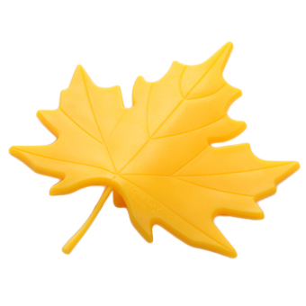 HengSong Maple Leaf Shape Safety Door Stopper (Yellow)