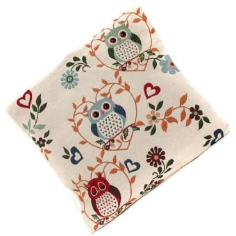 HengSong Owl Pattern Pillow Case (Multicolor)