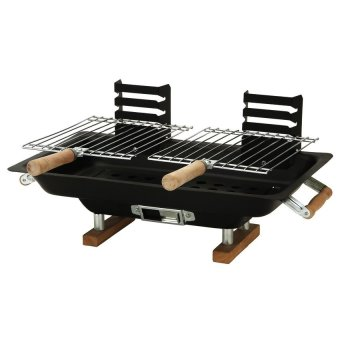 Hibachi Steel Charcoal BBQ Grill (Black)