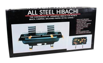 Hibachi Steel Charcoal BBQ Grill (Black) - picture 2