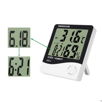 High accuracy LCD Digital Thermometer Hygrometer Indoor Electronic Temperature Humidity Meter Clock Weather Station - intl