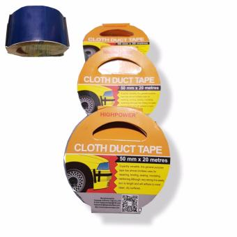 High Power Heavy Duty Cloth Duct Tape 2inches (50mm) x 20meters SET OF 3