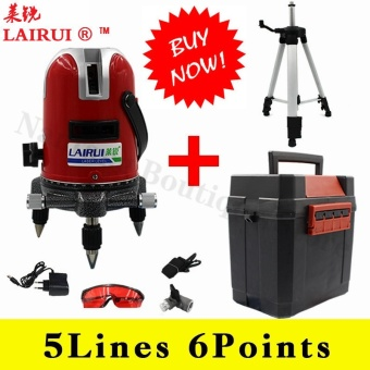 High Precision 5 Lines 6 Points Red Line Laser Level 360 Vertical & Horizontal Rotary Cross Line Lazer Level Tools - intl Price Philippines