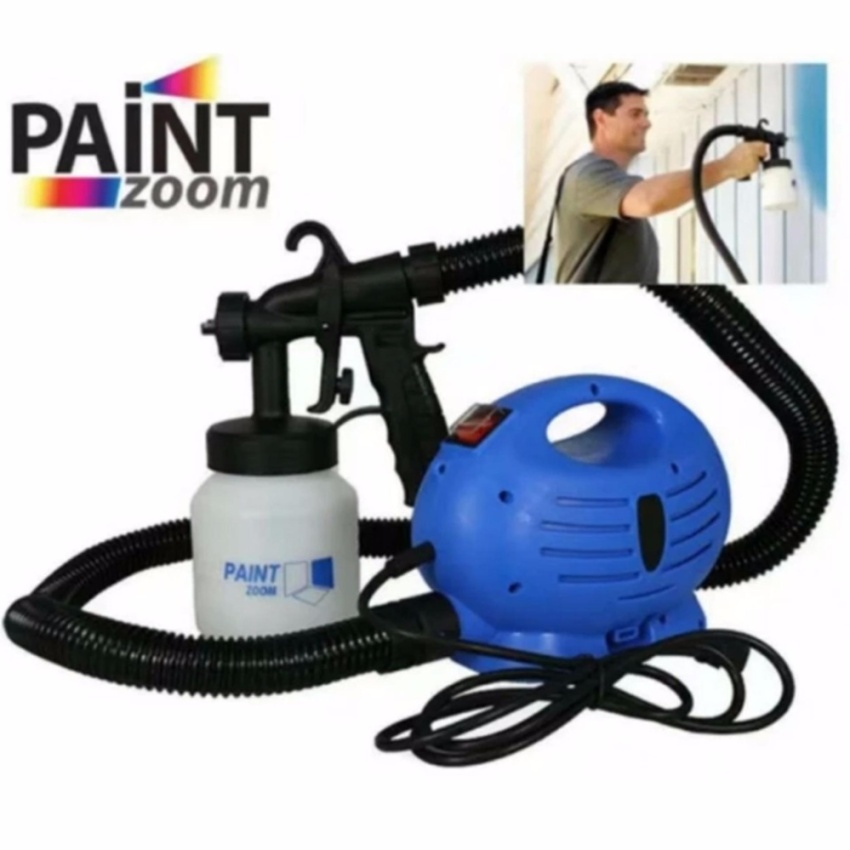 High Quality Paint Zoom Professional Electric Paint Sprayer Paint Gun(Blue)