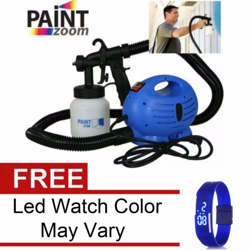 High Quality Paint Zoom Professional Electric Paint Sprayer Paint Gun(Blue)with Free LED WATCH Color May Vary