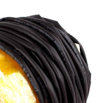 High Quality Store New 10M 4mm Heat Shrinkable Tube Shrink TubingBlack Wire Wrap - intl