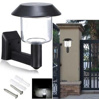 High Quality Store New Solar Powered Wall Light Auto Sensor FenceLED Garden Yard Outdoor Fence Lamp