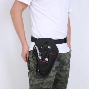 High Service Black Portable Electrician Tool Waist Belt Drill Holder Pouch Cordless Tool for Drill Waist Tool Bag - intl