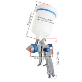 High Service HVLP Gravity Feed Spray Tools Car Vehicle Paint 1.4MM 1.7MM 2MM Nozzle 600CC Cup - intl - 5