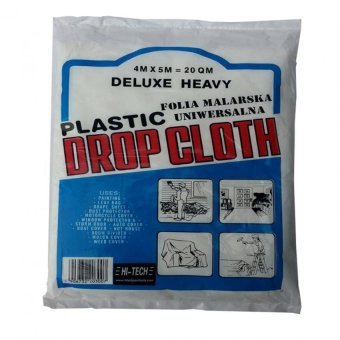 Hitech 4 m x 5 m Plastic Drop Cloth (Covers 20 square meters)
