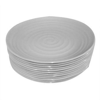 HK ZEN Round Plate Set of 12 (White)