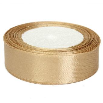 HKS 25 Yard Roll of 25mm Satin Ribbon (Brown) (Intl)