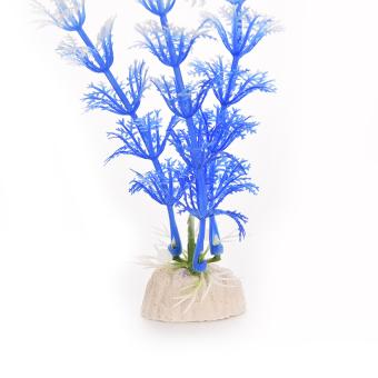 HKS White Blue Plastic Grass Underwater Ornament (Intl) - picture 2