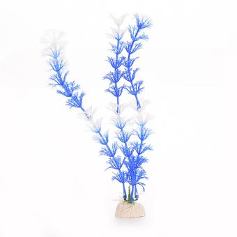 HKS White Blue Plastic Grass Underwater Ornament (Intl)