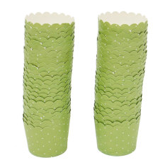 HL 50 PCS Wedding Party Cupcake Cases Paper Cake Cup Liners Wrappermuffin Mug Baking Green -
