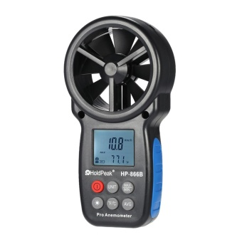 HoldPeak HP-866B Mini LCD Digital Anemometer Wind Speed AirVelocity Temperature Measuring with Backlight - intl Price Philippines
