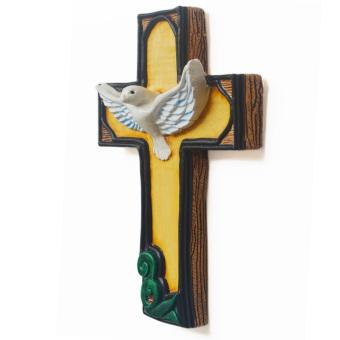Holy Spirit Cross Ceramic Wall Decor