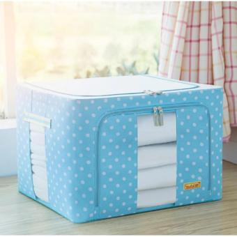 Home and Living Foldable Non-Woven Fabrics Room Bag Clothes BlanketStorage Box Home Organizer 66L (Blue)