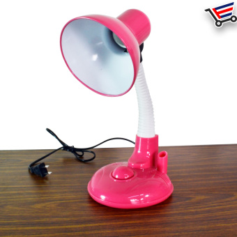 Home And Office Cute Table Lamp With Pen Holder (Pink)