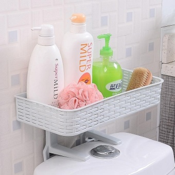 Home Bathroom Storage Holder Shelf Shower Caddy Tool Organizer RackBasket - intl