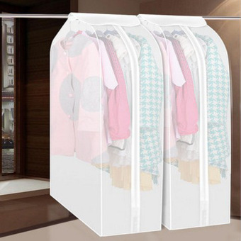 Home Clothes Garment Cover Case Dustproof Storage Bags Protectorfor Dress 2pcs - intl