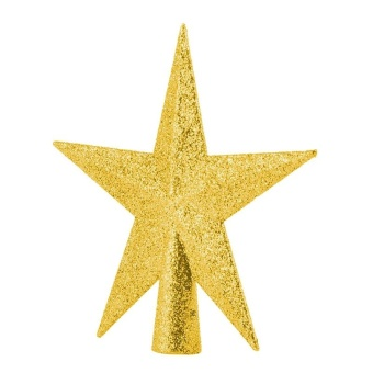 Home Decor Christmas Ornament Five-pointed Star Christmas Tree Topper 11cm Gold - intl - picture 2