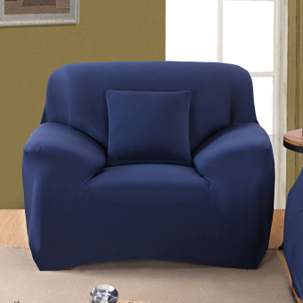 Home Furniture Chair Loveseat Sofa 1 2 3 Couch Stretch Protectcover Slipcover Navy Blue 1 Seater