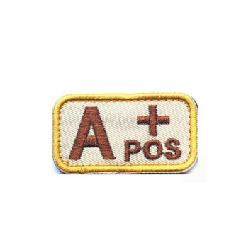 Home Military Tactics Blood Types Embroidered Velcro Hook A Patchcolor:Brown - intl