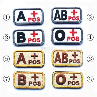 Home Military Tactics Blood Types Embroidered Velcro Hook O Patchcolor:Black - intl