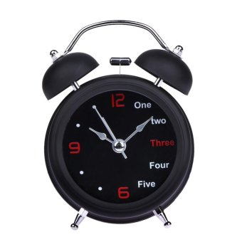 Home Retro Double Bell Desk Alarm Clock - intl