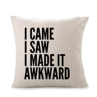 HOME SWEET HOME Sofa Bed Home Decoration Festival Pillow CaseCushion Cover - intl Price Philippines