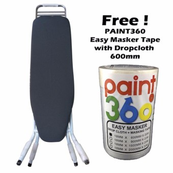 HOME360 Ironing Board 4 Stand Ultralightweight 36in + PAINT360 Easy Masker Type with Dropcloth 600mm