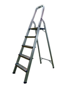 Homecare 5-Step Ladder (Silver) - picture 2