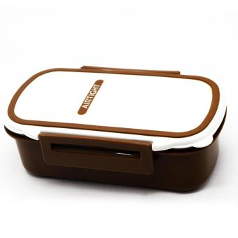 HOMIO Airtight Lunch Box with Spoon (Brown) Price Philippines