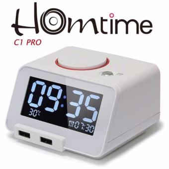 Homtime C1 Pro Alarm Clock, Bluetooth Speaker with ChargingFunction (White)