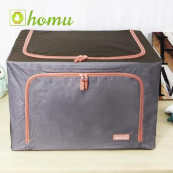 HOMU Clothes Blanket Storage Box Home Organizer 66L (Denim Grey)