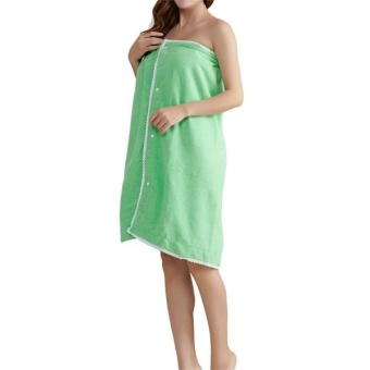 Honana BX-949 Microfiber Soft Magic Able Wear Spa Bath Robe PlushHighly Absorbent Bath Towel Skirt