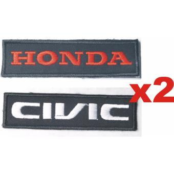 Honda Civic Embroidered Cloth Patch Badge Set (Get 2)