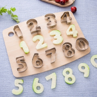 Hong Pei with numbers cookie cutter